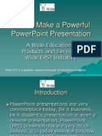How to Make a Powerful Power Point Presentation
