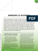 Barriers to Blessing