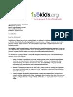 Voices for Virginia's Children Letter to Gov. McDonnell