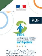 EIRL.fr L Entrepreneur Individuel en 10 Points - Depliant DGCIS