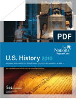 US Department of Education (DoEd) NAEP History Test Results (2010)