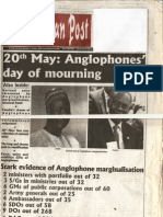Anglophone Marginalisation and the Irony of 20th May Celebrations in Cameroon