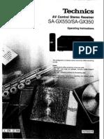 Technics SA-GX550 / SA-GX350 User Manual / Operating Instructions
