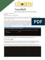Lab49Feature-DrDobbs-WindowsPowershell
