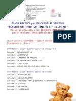 Guida Pratica BAMBINO PROTAGONISTA 1-4 ANNI - elenco schede attività