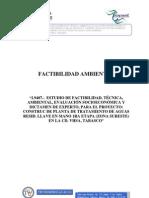 Factibilidad Ambiental Planta de Tratamiento Sureste