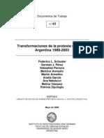 AAVV Transformaciones de La Protesta Social en La Argentina