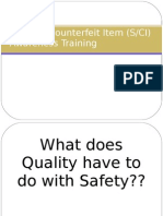 Counterfeit Material Training