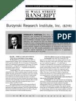 Interview With Dr Stanislaw Burzynski