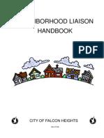 Neighborhood Liason Handbook