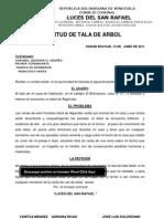 Solicitud de Tala de Arbol a Los Bomberos