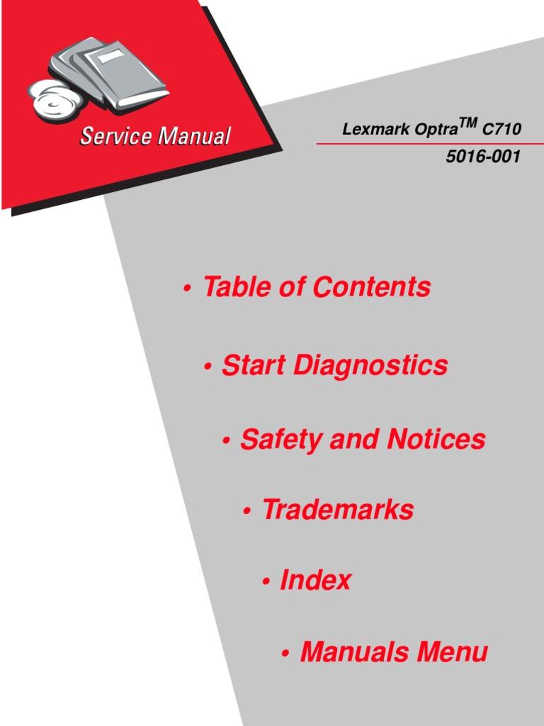 lexmark optra c710 printer service manual