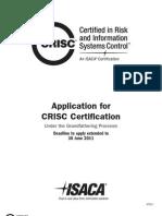 CRISC Gf Application
