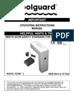 Pool Alarm Instructions