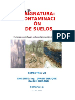 Factores que influyen en la contaminación de los suelos clse 10