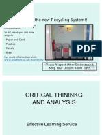 Critical Thinking and Analysis Martin