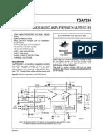 Exelente Amplificador de 100w TDA7294