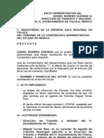 demanda administrativa transito