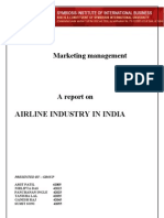 Airline Industry in India - Marketing Mangement