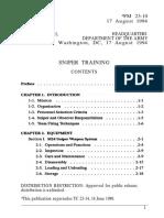 Sniper Training (FM 23-10)