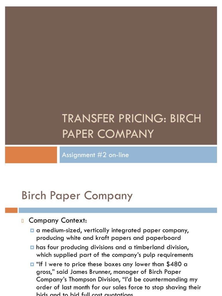 birch paper company research papers You can't write a great research paper on time we can help superior papers offers top-quality writing help for students at all levels.
