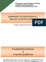 Proposições sobre a fundamentação teórica na escrita acadêmica