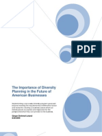 Importance of Diversity Planning in the Future of American Business