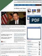 Lawmakers Sue President Obama Over Libya