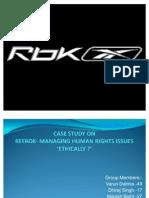 Reebok-HRM Case Study