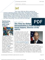 Kappos-The Time for Global Harmonization is Now