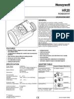 Honeywell Rondostat Hr20 Spesification