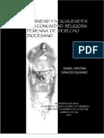 Feminidad y Sexualidad en Una Comunidad Religiosa Femenina de Derecho Diocesano