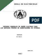 VY500-16 Criterios Grales Para El Dis Elec Para Serv Prop de Se de Pot