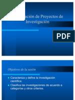 3º Sesión Fases y Esquema básico de un proyecto de investiga