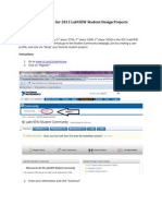How to Vote for 2011 LabVIEW Student Design Projects