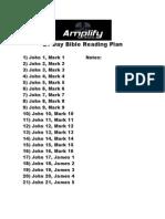 21 Day Bible Reading Plan