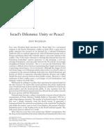 Israel's Dilemma -- Unity or Peace (Israel Affairs, Vol 12, No 2, 2006)