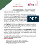 Professional Development in Psychiatry Flyer - Stafford University