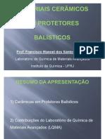 CERÂMICAS BALISTICAS_LQMA_Conferência_MARINHA