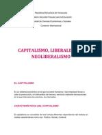 Capitalismo Liberalismo y Neoliberalismo