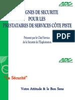 Guide de Securite Pour Le Prestataire Côte Piste