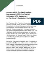 FRAMELINE35 The San Francisco International LGBT Film Festival - June 16-26 2011 Press Release