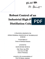 A Rigorous Dynamic Model of Distillation Columns