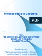 ESTUDIO DE CASO Y LA GEOGRAFÍA RADICAL