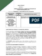 Licitacion Anexo I.1 Convocatoria de Mantenimientos 2010