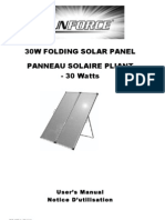 Sunforce 50232 30 Watt Folding Solar Panel Owner's Manual
