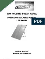 Sunforce 50232 30 Watt Folding Solar Panel Owner's Manual