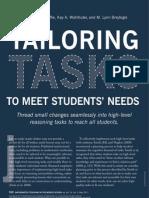 tailoring tasks to meet students needs