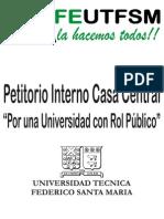 Petitorio Interno Casa Central UTFSM