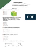 Evaluación de Matemática 22